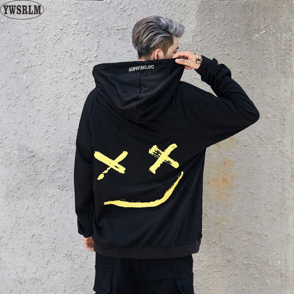 Men's Smile Print Hoodies / Sweatshirts