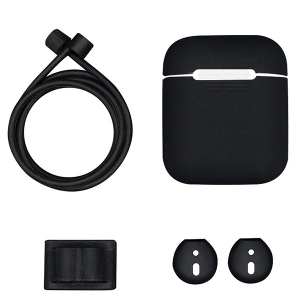 Protective Silicone AirPods Case Cover w/ Accessories - Order It All