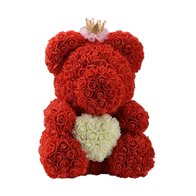 """Forever Yours"" Rose Bear with Heart - Order It All"