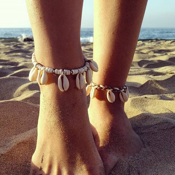 Shell Tassel Foot Anklet