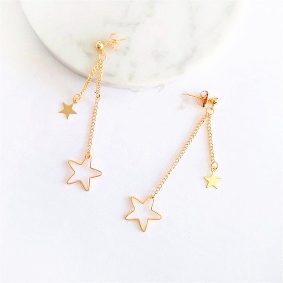 Stud Stars Dangle Earrings
