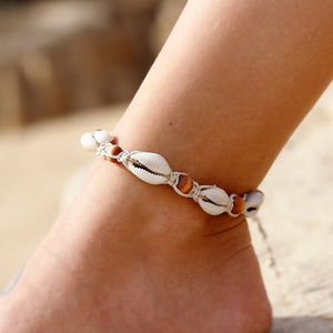 Rope Wood Bead Ankle Bracelet