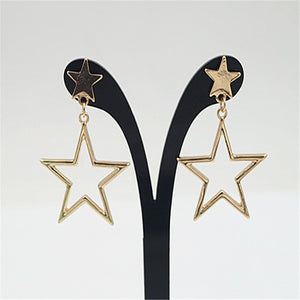 Gold or Silver Star Earrings