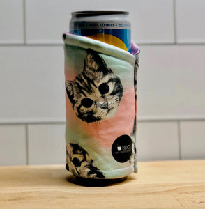 Cotton Candy Kitties Skinny Can Coozie