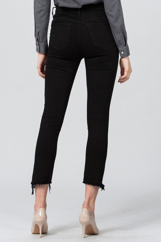 Lana Black Crop Jeans Terra Cotta