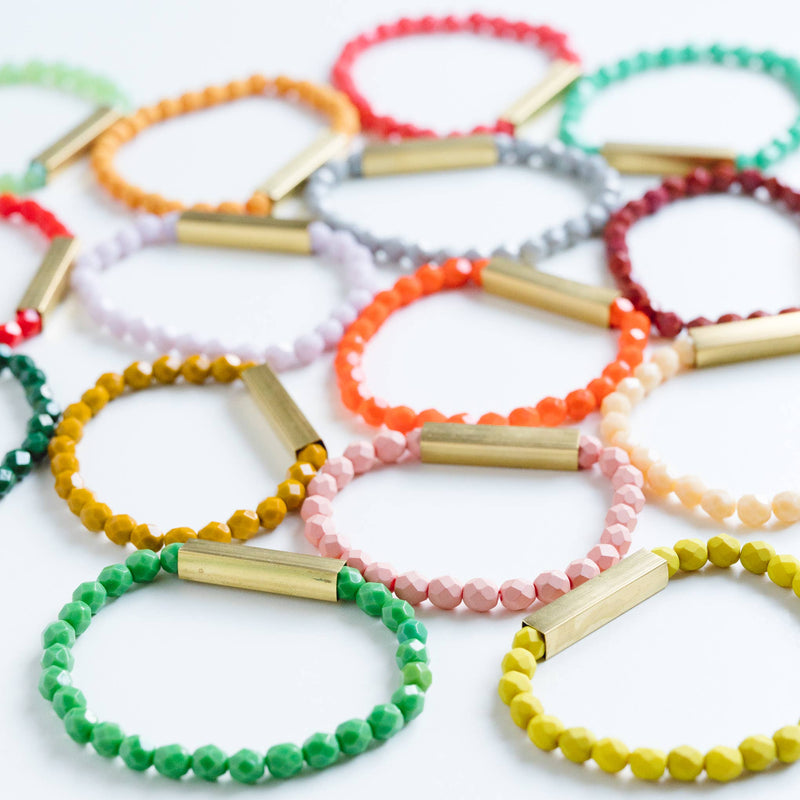 Nest Pretty Things - Colorful Bead Bracelets - Terra Cotta