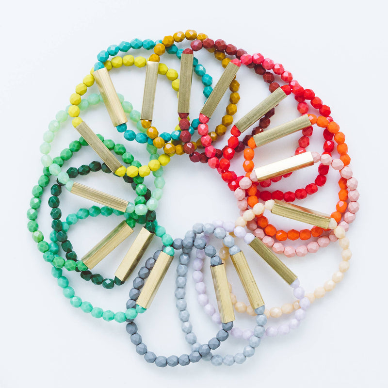 Nest Pretty Things - Colorful Bead Bracelets