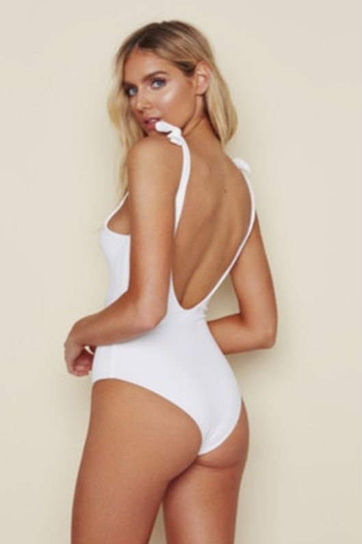 Seamless Tie Shoulder Cheeky One Piece