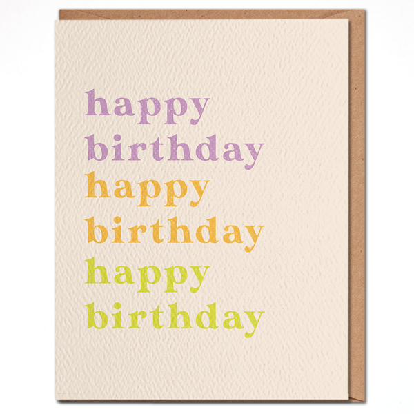 Happy birthday colorful card