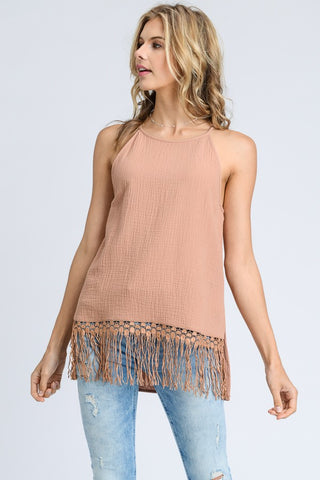 Ombre Open Back Knit Top