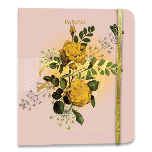 PAPAYA! - 2019 Weekly Planner - Pink Bouquet