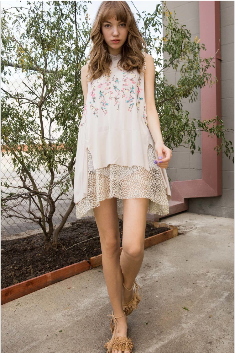 Blossom Sleeveless Embroidered Tunic