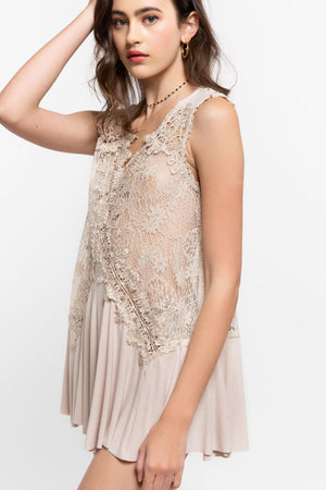 Beige Lace Tunic