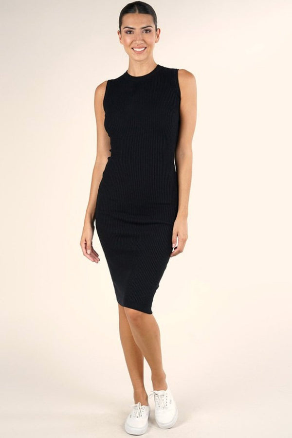 Black Bodycon Sweater Dress Terra Cotta