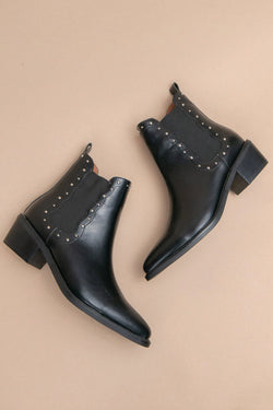 Black Studded Chelsea Boot Terra Cotta