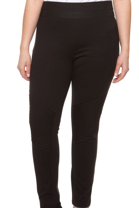 Biker Legging w/ Pleated Details - Terra Cotta
