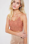 Esme Crochet Bralette in Rust