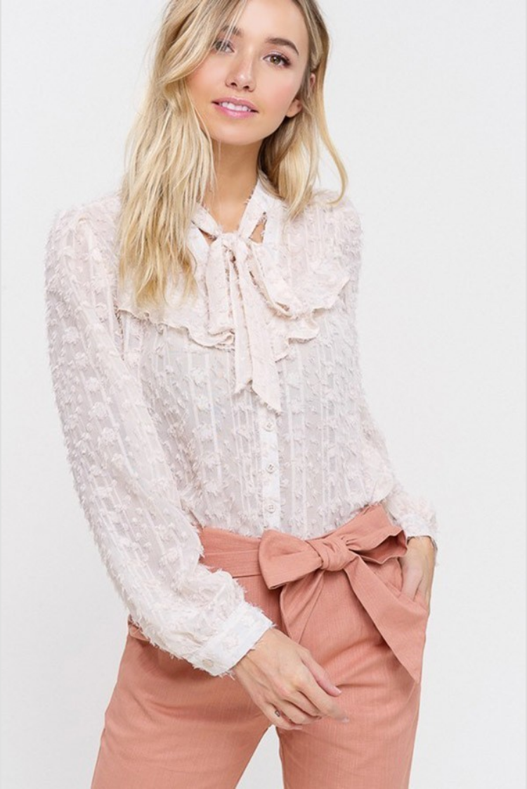 Ania Frill Detailed Chiffon Blouse