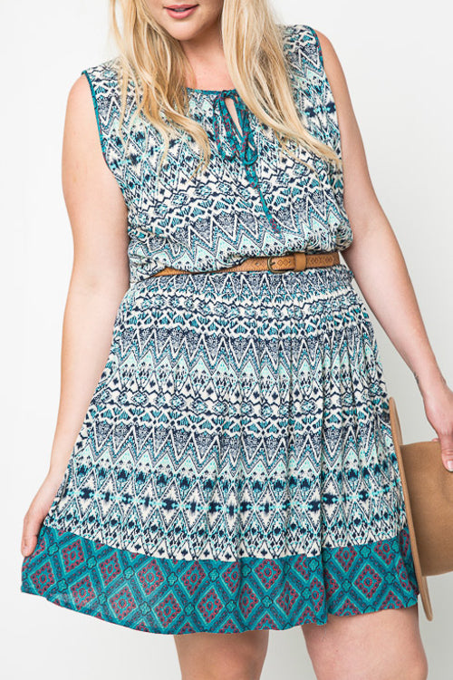 Plus Tribal Tank Dress