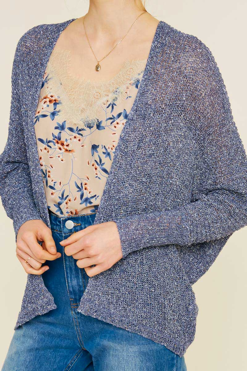 Blue Lightweight Cardigan
