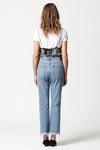 Hidden Jeans- TRACEY HIGH RISE STRAIGHT CROP WITH FRAYED HEMS