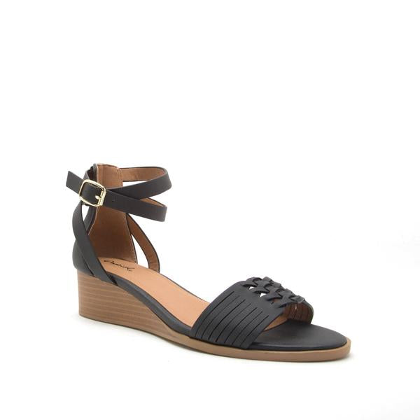 Liam Black Wedge Sandal