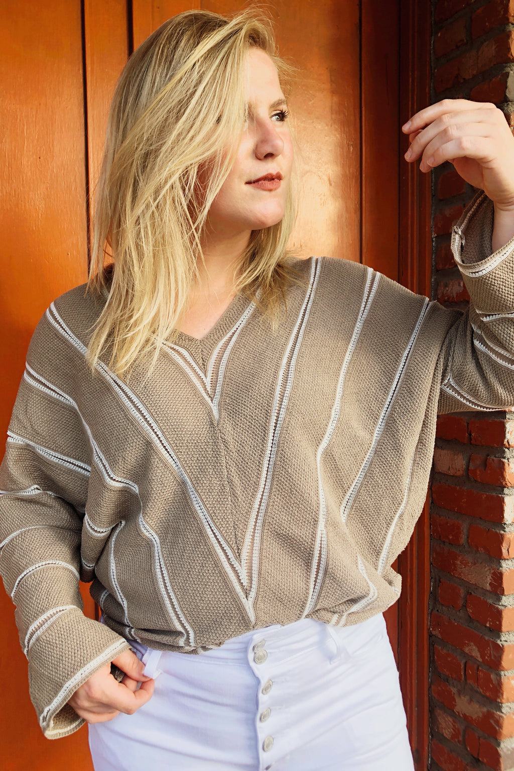 Mocha Stripe Sweater