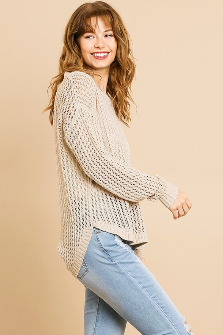 Oatmeal Pullover Sweater