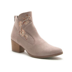 Nero Taupe Embroidered Boho Boot - Terra Cotta