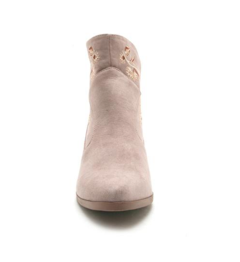 Nero Taupe Embroidered Boho Boot