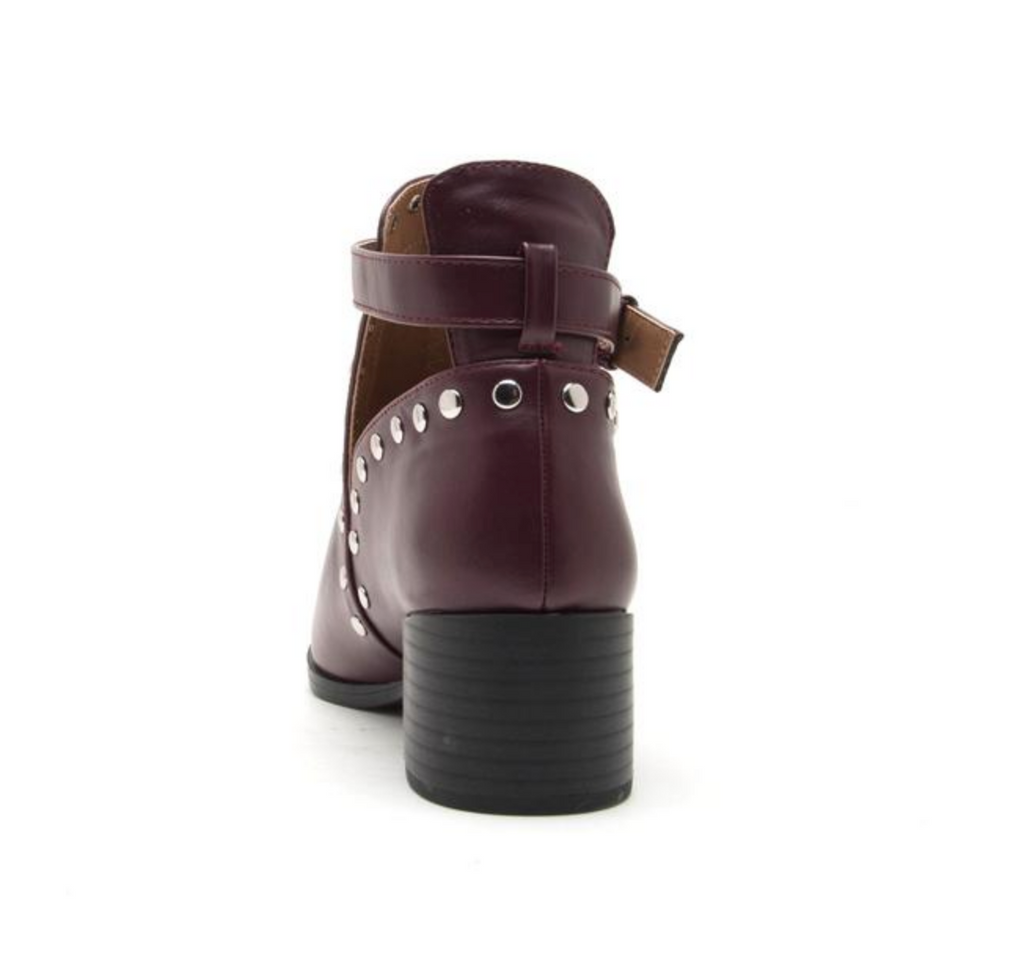 Wasco Plum Studded Bootie