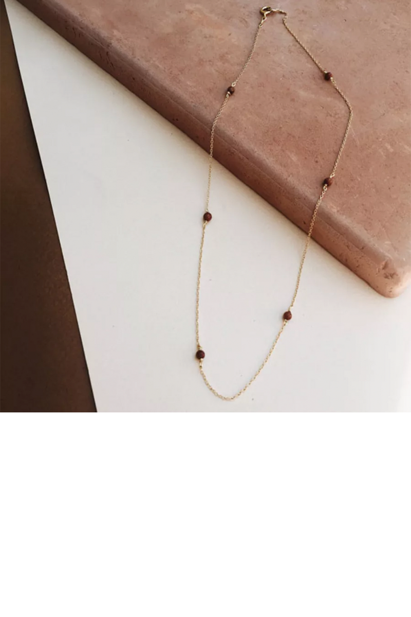 Tumble - String Me Along: Goldstone Necklace