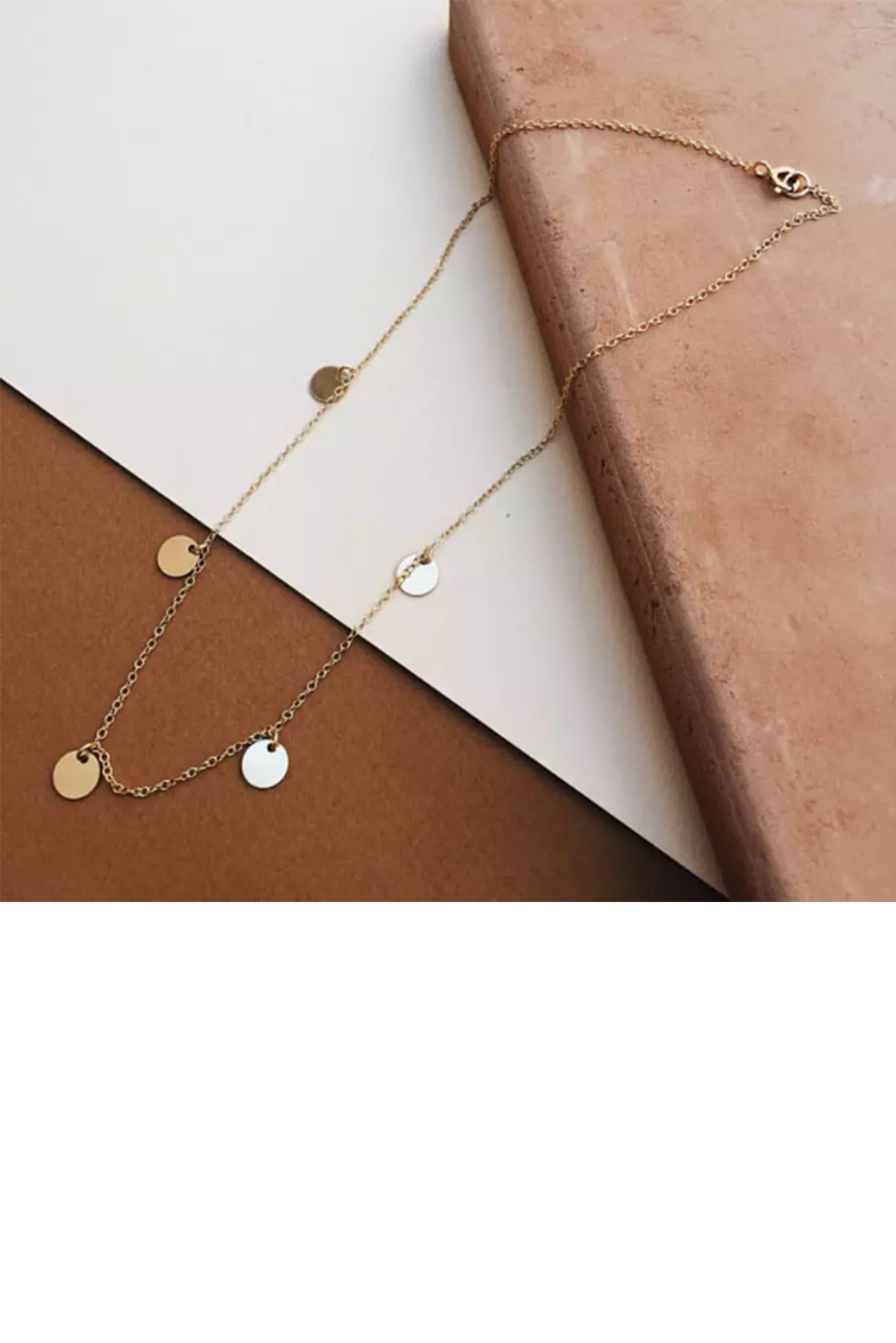 Tumble - 5 Disc Choker Layering Necklace