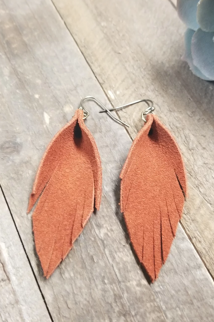 Fringed Leather Feathers