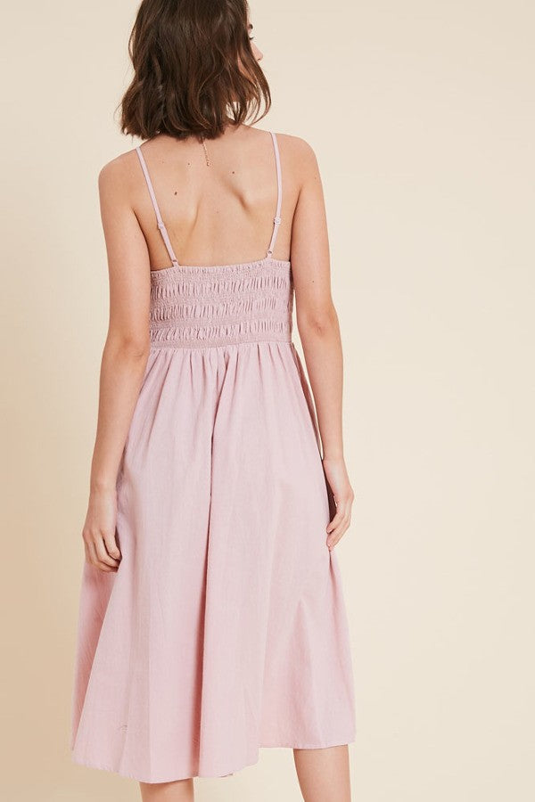 Blush Cotton Dress - Terra Cotta