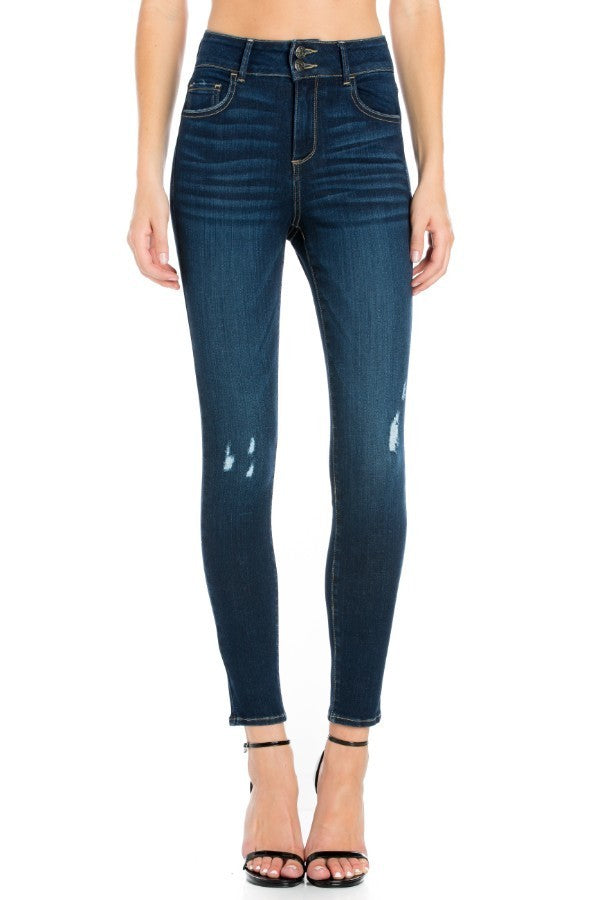 High Rise Dark Wash Skinny