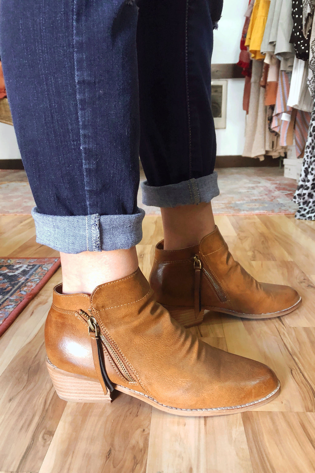 Brown Slouch Booties
