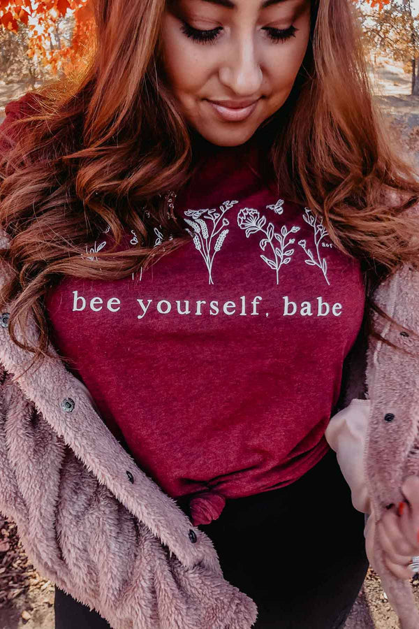 Bee Yourself, Babe Tee Shirt Terra Cotta