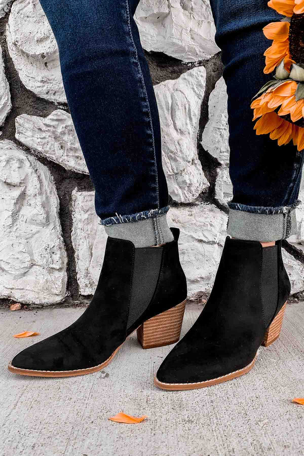 Terra Cotta Charlie Black Booties