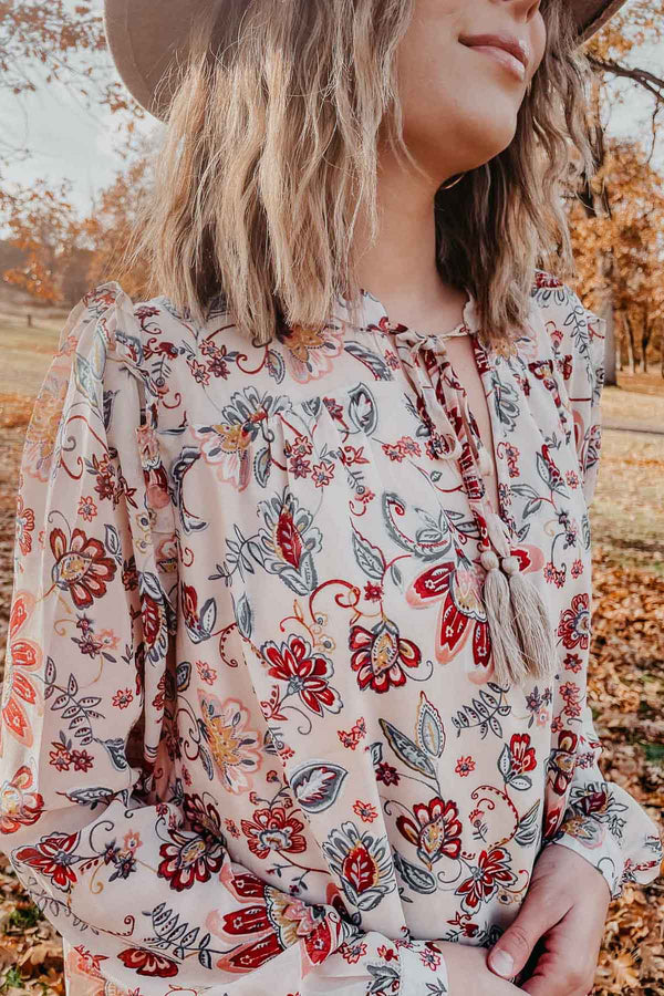 Boho Print Mini Dress Terra Cotta