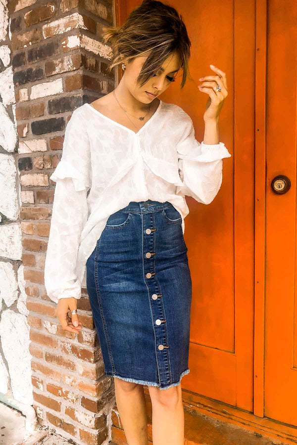 Call Me Classic Denim Skirt