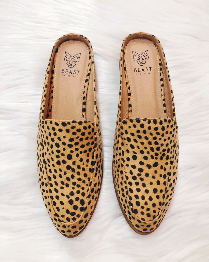 Cheetah Loafers - Terra Cotta