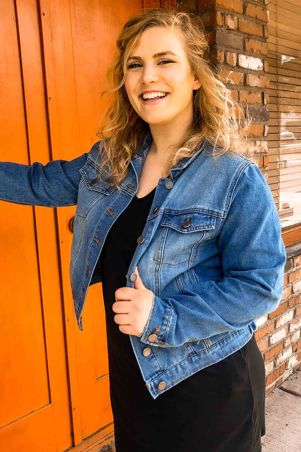 Classic Denim Jacket Terra Cotta