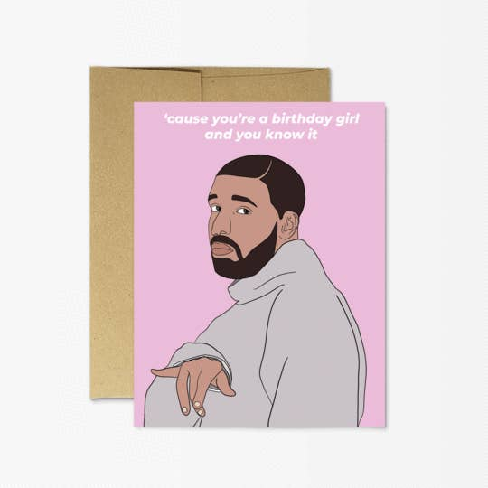drake birthday card terra cotta