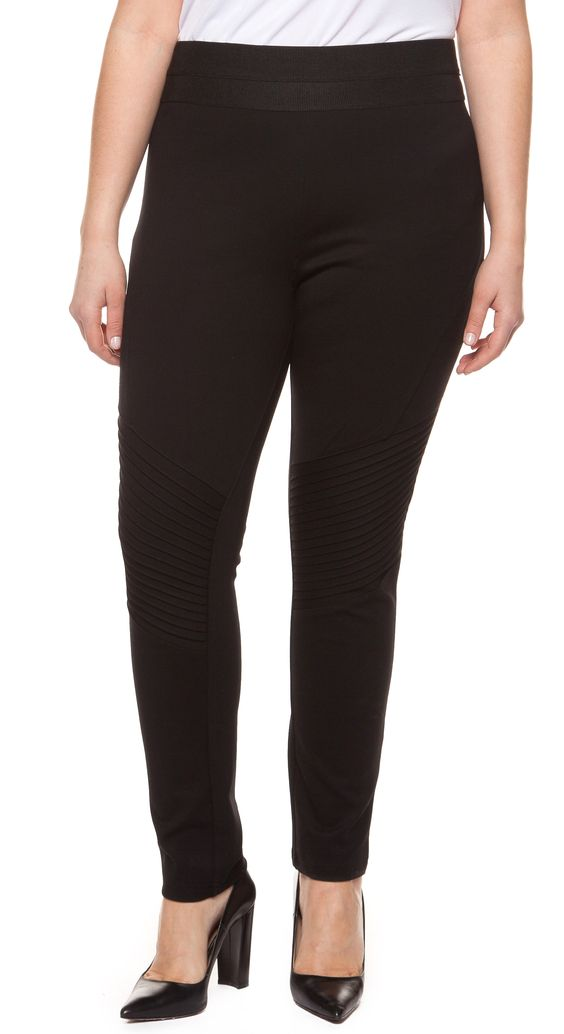 Biker Legging w/ Pleated Details