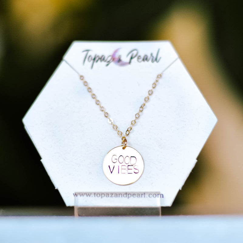 Topaz & Pearl - Good Vibes Necklace - 14k Gold