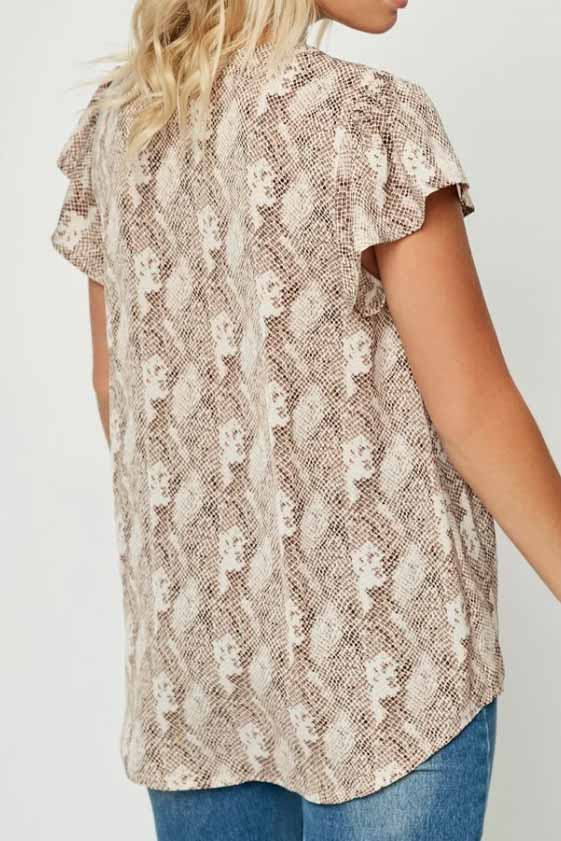 Fancy A Snake Print Blouse Terra Cotta