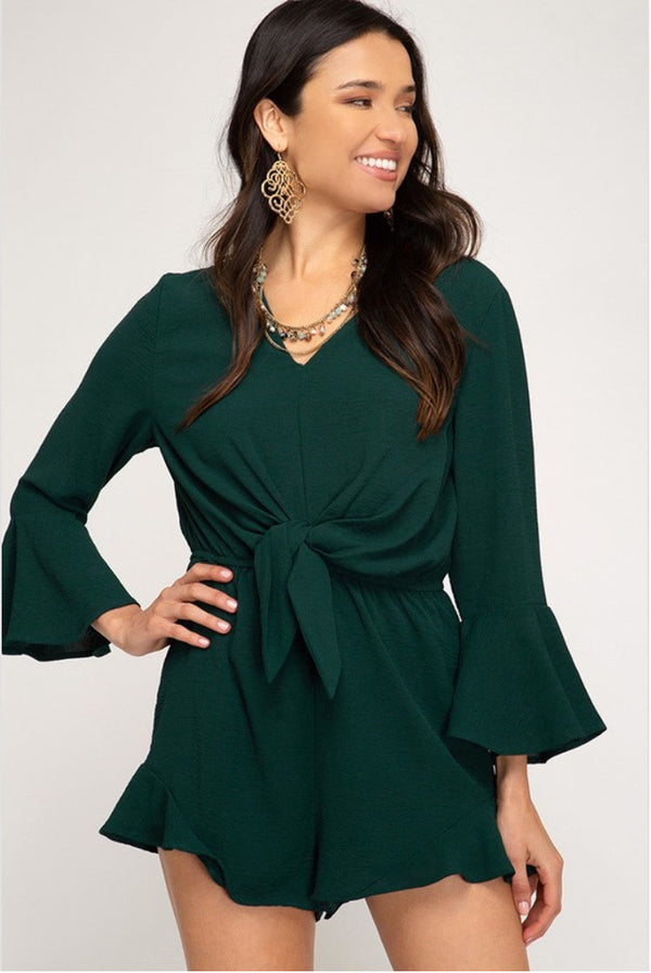 Sea Green Romper Terra Cotta