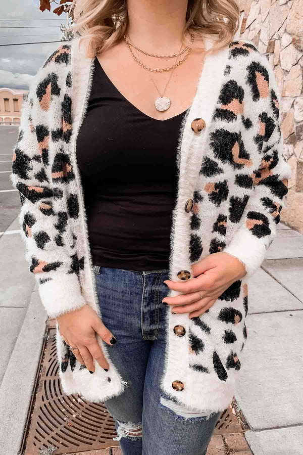 Terra Cotta Ivory Leopard Sweater