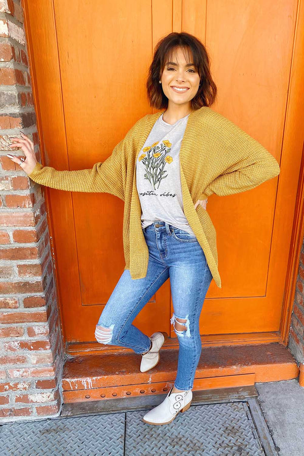 May Mustard Cardigan Terra Cotta